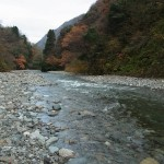 晩秋の青海川