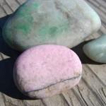 緑翡翠と桃簾石