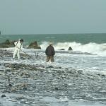 荒れる須沢海岸