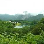 明星山と高浪の池