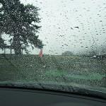 激しい雨 宮崎海岸