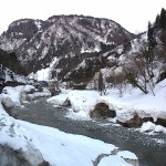 小滝川の雪景色