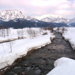 根知の雪景色