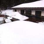 根知谷の残雪