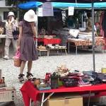 盛夏の大須骨董市