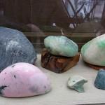 桃簾石と上質翡翠 ポポ