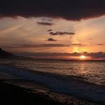 須沢海岸の夕焼け