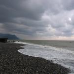 冬に戻った須沢海岸