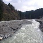 ポポさんの前の小滝川