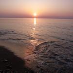 須沢海岸の夕日