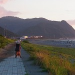 須沢海岸の夕暮れ