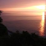天険の夕日