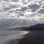 宮﨑海岸の光芒