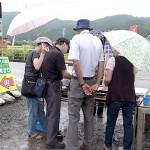 姫川・大野の露天翡翠市