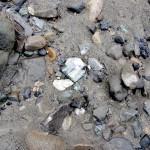 埋まっている翡翠 青海川