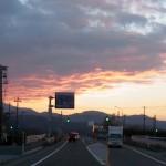 夕焼け 姫川付近