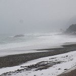 雪の宮﨑海岸