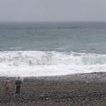 荒れる宮﨑海岸