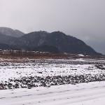雪の姫川 大野付近