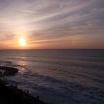 市振海岸の夕日