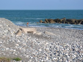 市振海岸の翡翠ハンター