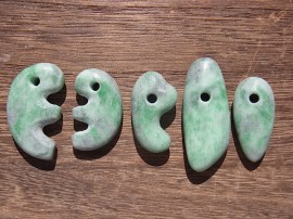 勾玉 大珠 緑翡翠