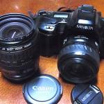 購入したカメラとレンズ 大須骨董市 2014.9.18
