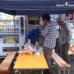 大野の翡翠市 なめこ汁サービス