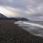 寒々とした須沢海岸