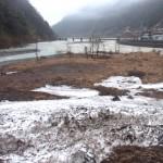 姫川と小滝川の合流地点