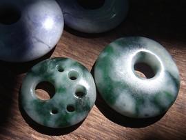 円形大珠 翡翠