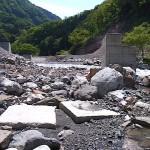 堰堤工事現場 小滝川