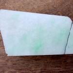上質翡翠原石 白と緑