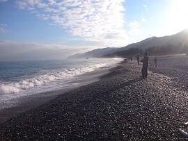 宮崎海岸の釣り人