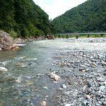 小滝川と姫川の合流点