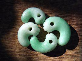緑勾玉 大所川の緑翡翠