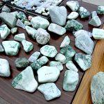 翡翠の原石 出張販売所