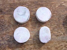 三日月形垂飾 桃簾石
