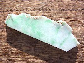 垂飾 薄緑翡翠