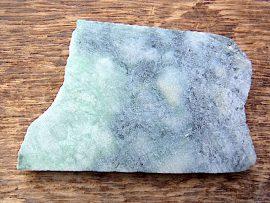三日月形大珠 圧砕緑翡翠