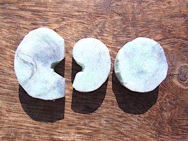 勾玉 三日月形垂飾り