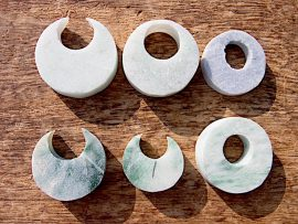 円形垂飾 糸魚川翡翠